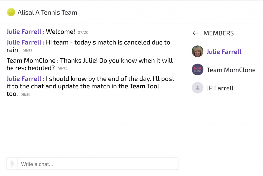 New Team Chat Feature for Team Tool