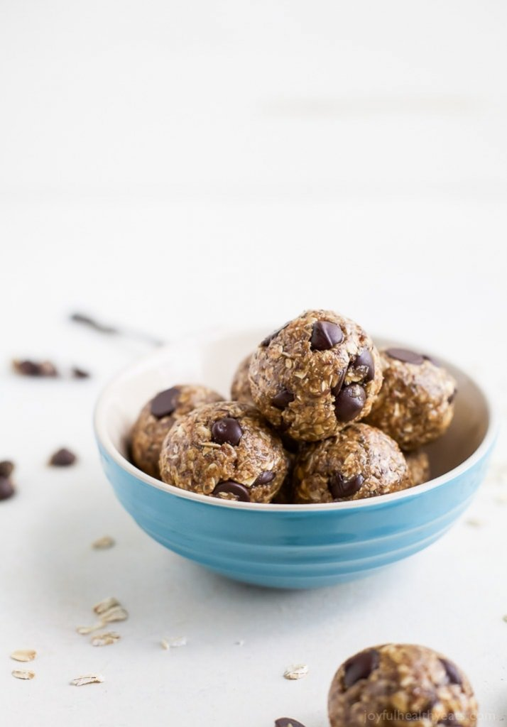 No Bake Chocolate Peanut Butter Energy Balls Healthy Sports Snack Ideas